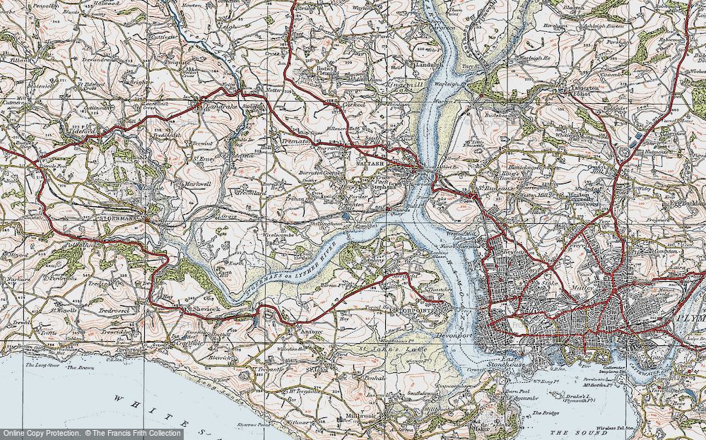 Old Map of Antony Passage, 1919 in 1919