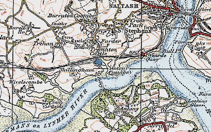 Old map of Antony Passage in 1919