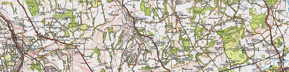 Old map of Aperfield in 1920
