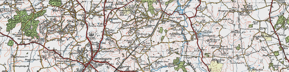 Old map of Apes Dale in 1919