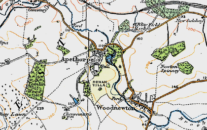 Old map of Tomlin Wood in 1922