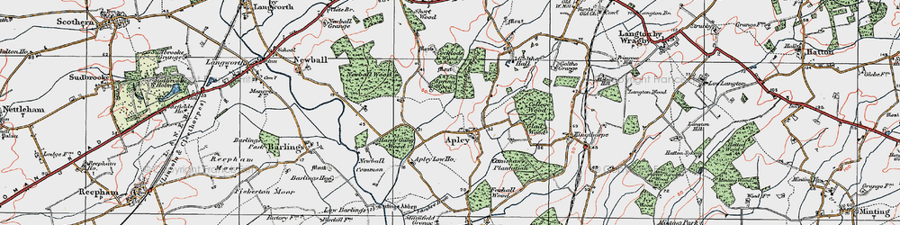 Old map of Apley in 1923