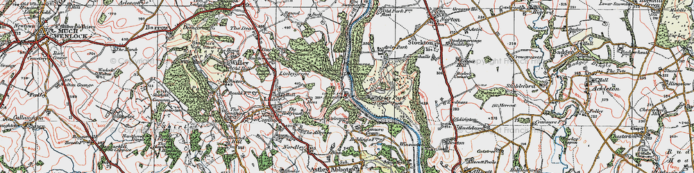 Old map of Apley Forge in 1921