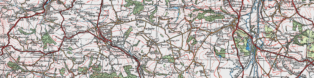 Old map of Apperknowle in 1923