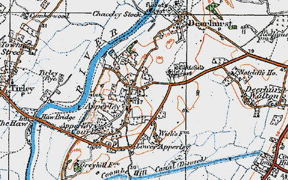 Old map of Wightfield Manor in 1919