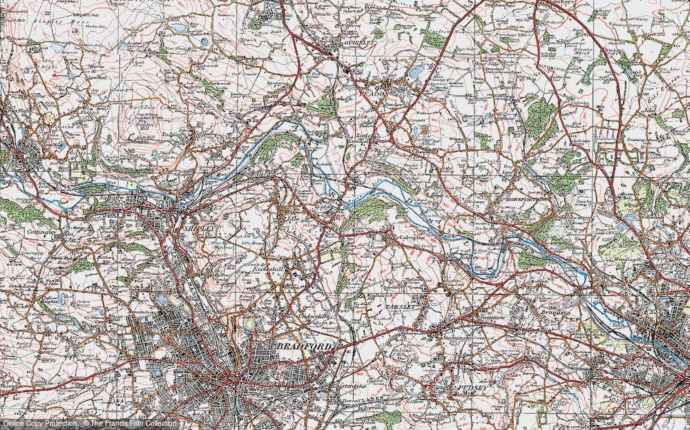 Old Map of Apperley Bridge, 1925 in 1925