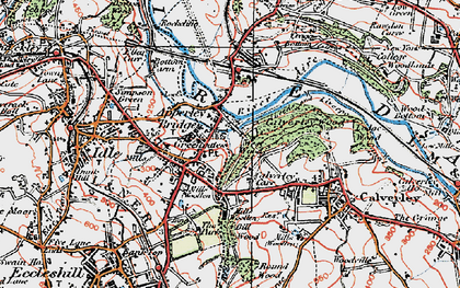 Old map of Apperley Bridge in 1925