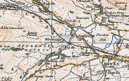 Old map of Backsides in 1925