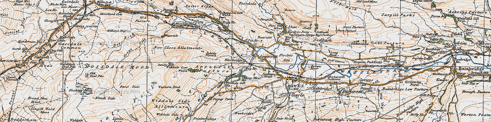 Old map of Appersett Pasture in 1925