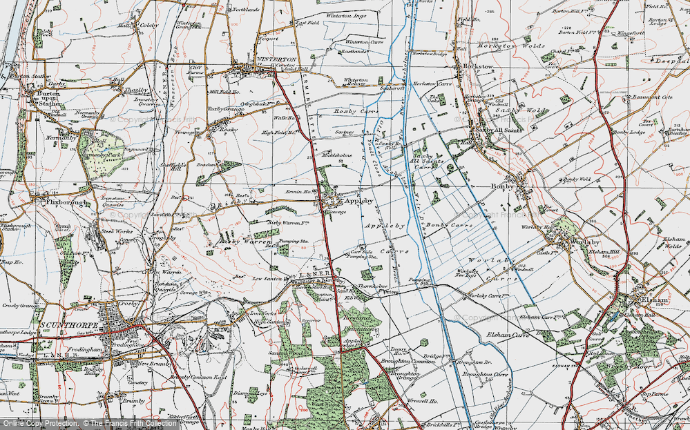 Old Map of Appleby, 1924 in 1924