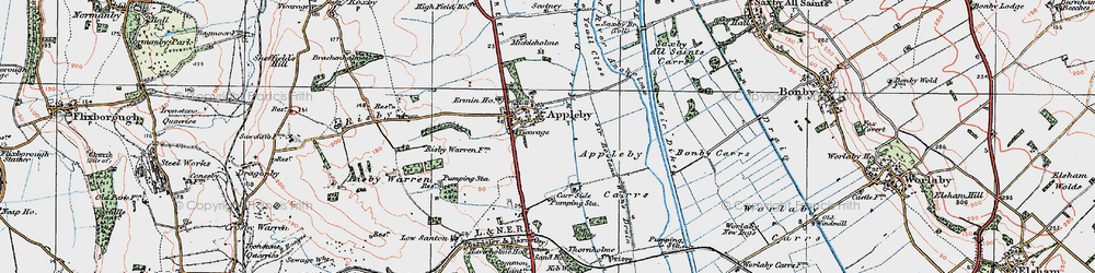 Old map of Appleby in 1924