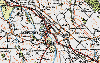 Old map of Bandley Wood in 1925