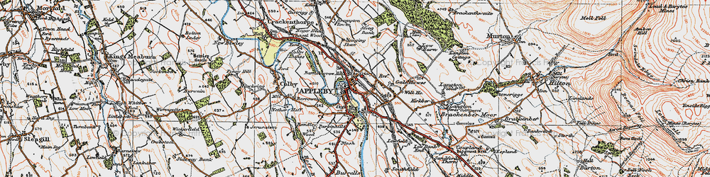 Old map of Appleby-in-Westmorland in 1925