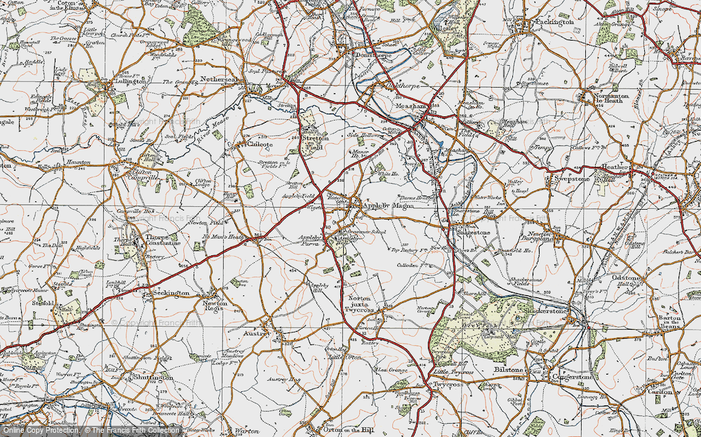 Old Map of Appleby Magna, 1921 in 1921