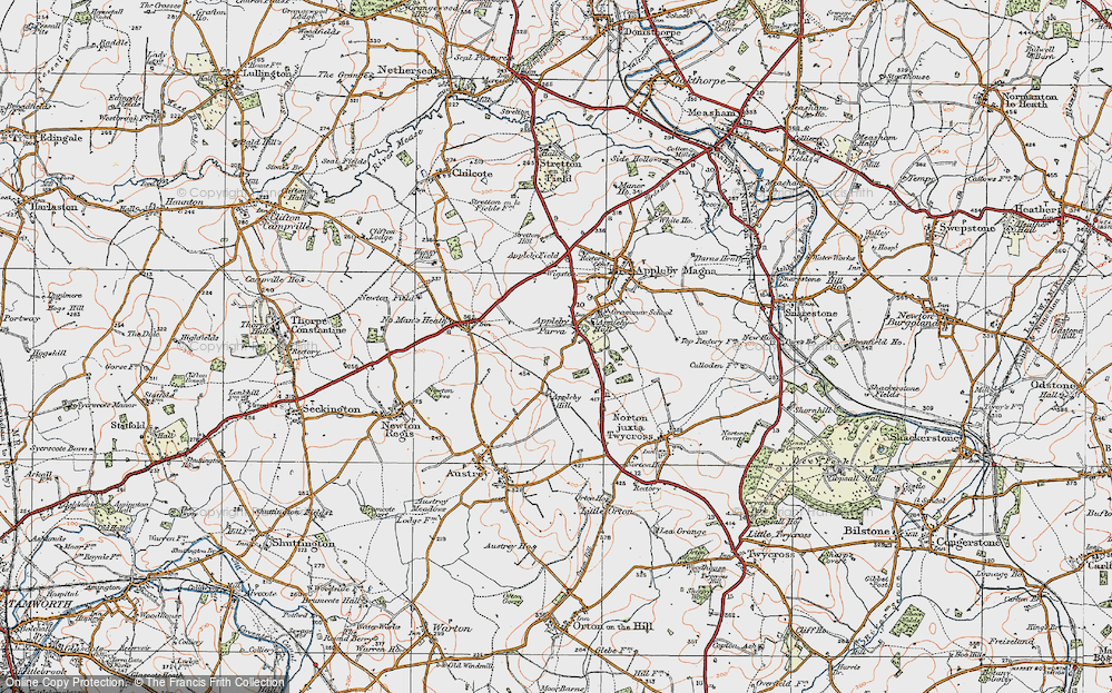 Old Map of Appleby Parva, 1921 in 1921