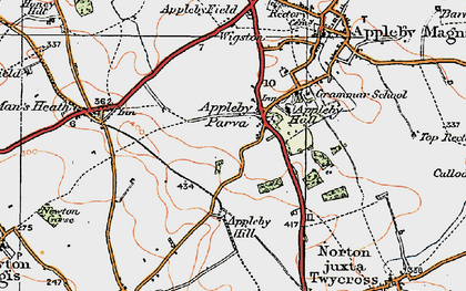Old map of Appleby Parva in 1921