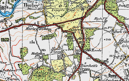 Old map of Applehouse Hill in 1919