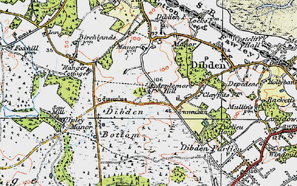 Old map of Yew Tree Heath in 1919