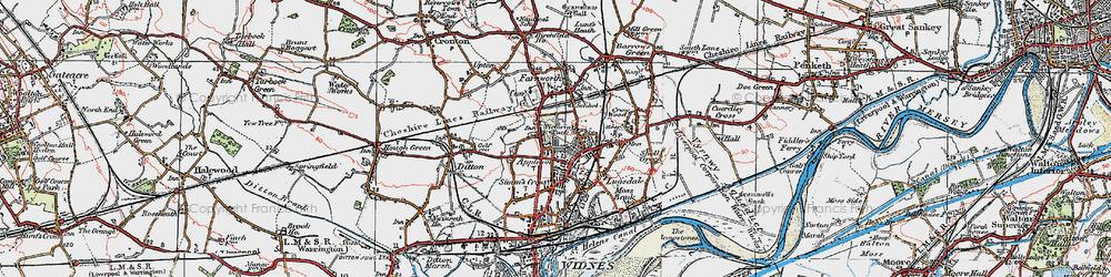 Old map of Appleton in 1923