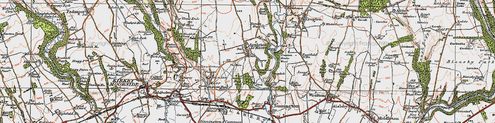 Old map of Appleton-le-Moors in 1925
