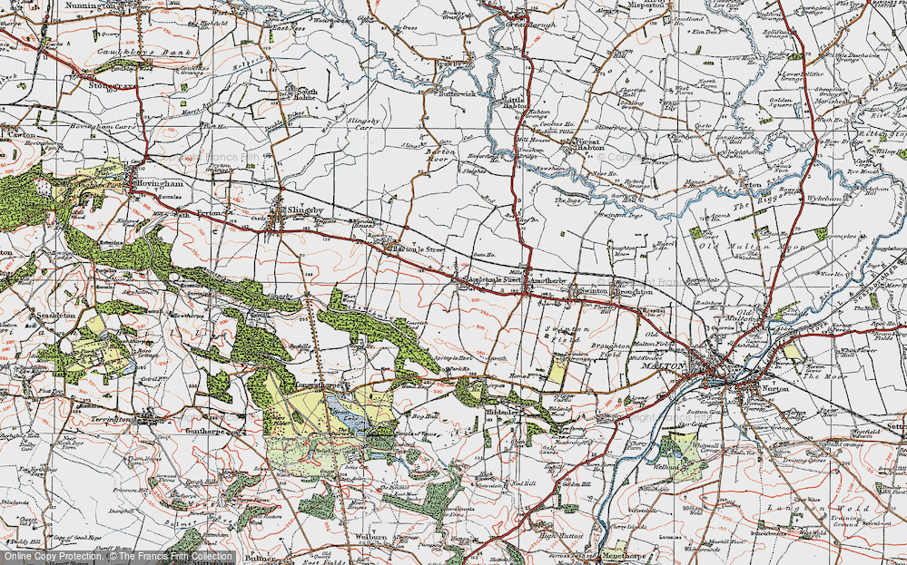 Old Map of Appleton-le-Street, 1924 in 1924