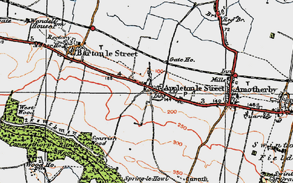 Old map of Appleton-le-Street in 1924