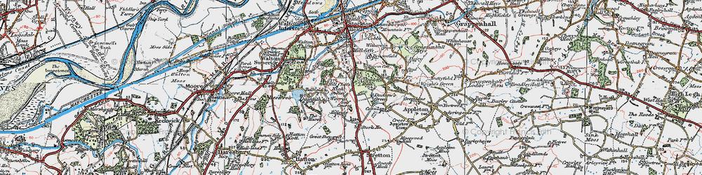 Old map of Appleton Resr in 1923