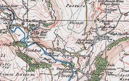 Old map of Appletreewick in 1925