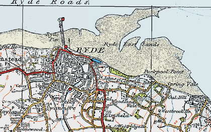 Old map of Appley in 1919