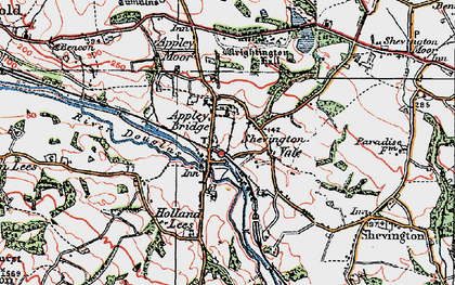Old map of Appley Bridge in 1924