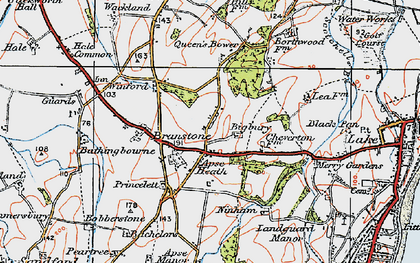 Old map of Apse Heath in 1919