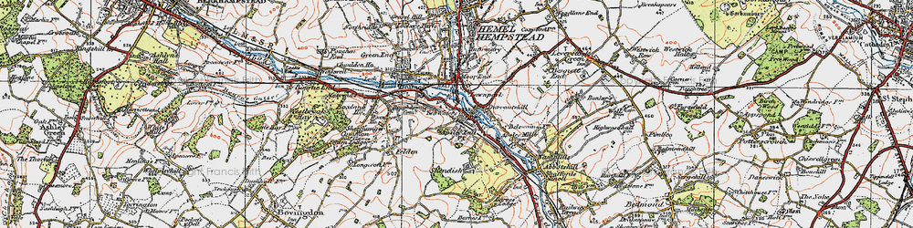 Old map of Apsley in 1920