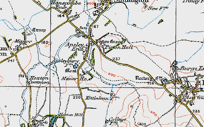 Old map of Apsley End in 1919