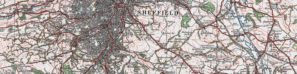 Old map of Arbourthorne in 1923