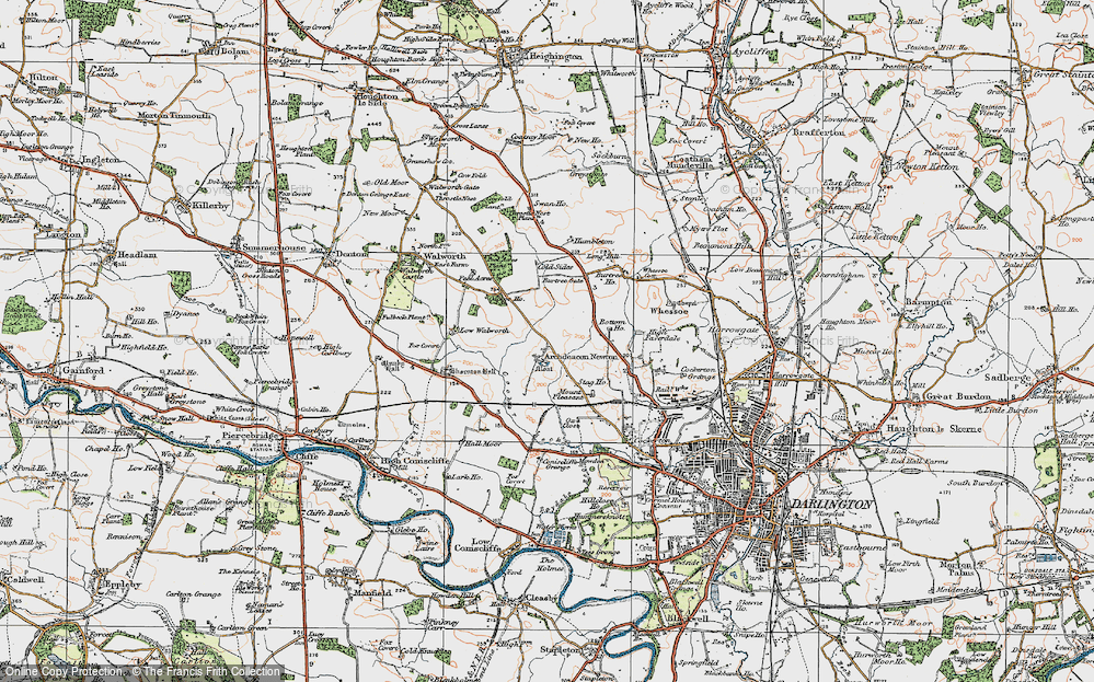 Old Map of Archdeacon Newton, 1925 in 1925