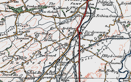 Old map of Arddleen in 1921