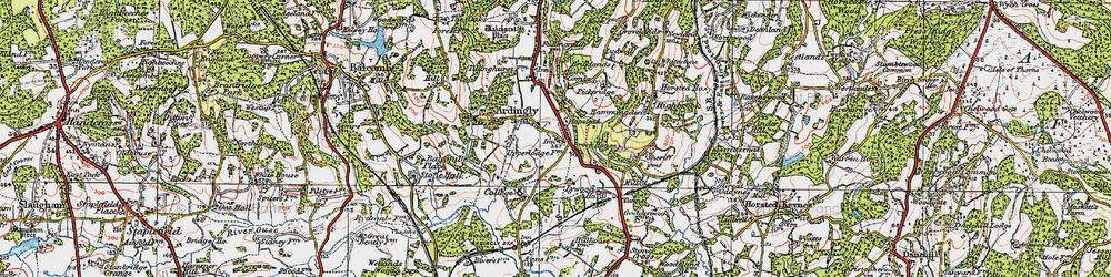Old map of Ardingly in 1920