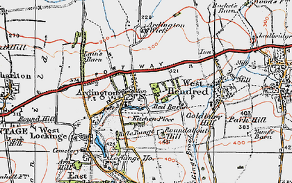 Old map of Ardington Ho in 1919
