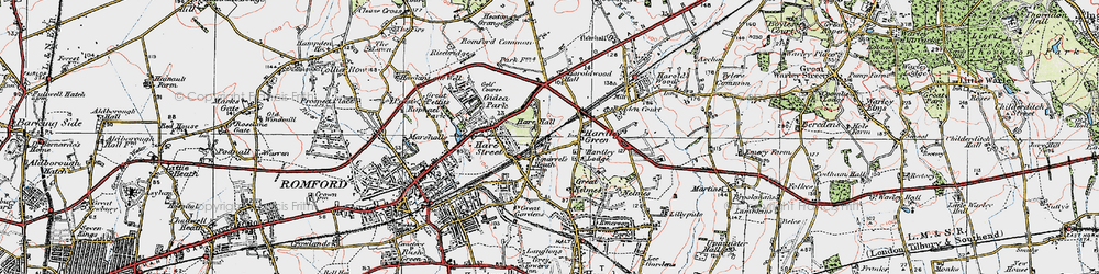 Old map of Ardleigh Green in 1920