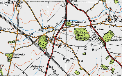 Old map of Ardley in 1919