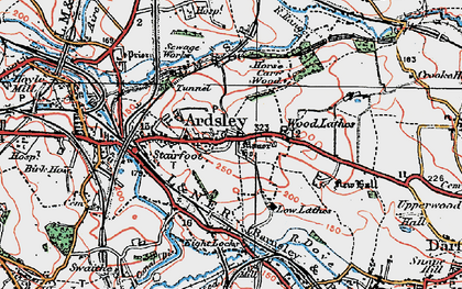 Old map of Ardsley in 1924