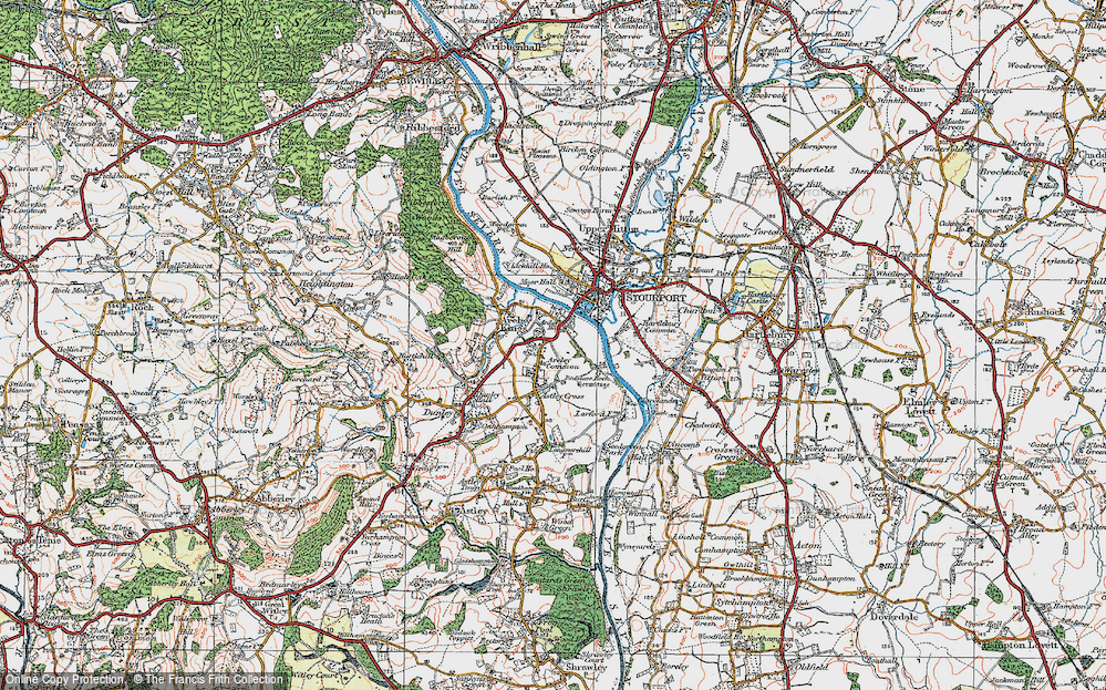 Old Map of Areley Kings, 1920 in 1920