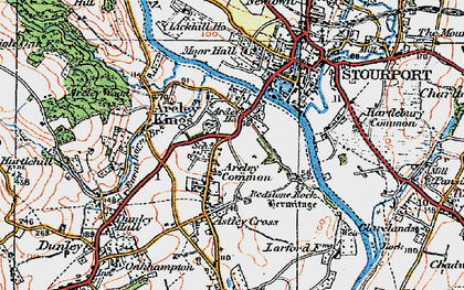 Old map of Areley Kings in 1920