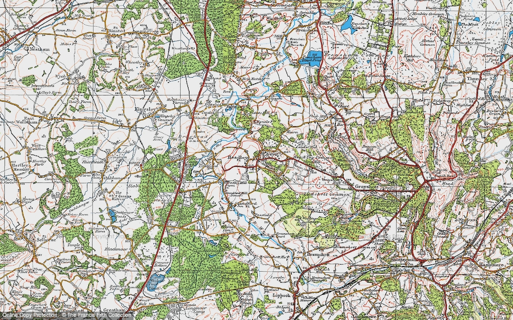 Old Map of Historic Map covering Tignals in 1919
