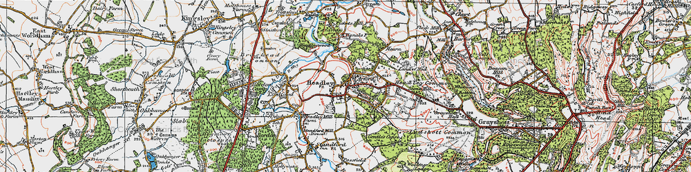 Old map of Arford in 1919