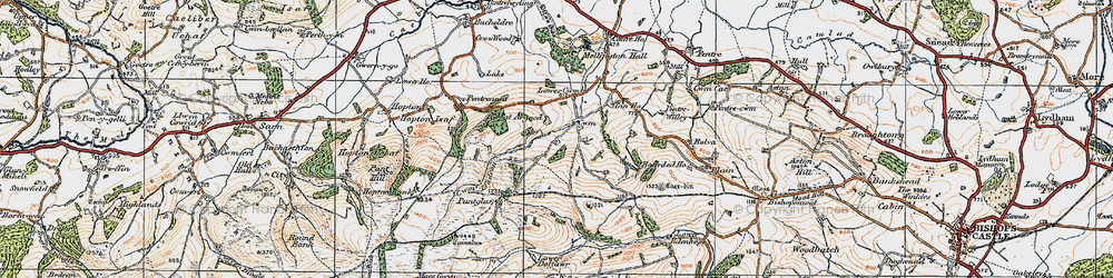 Old map of Argoed in 1920
