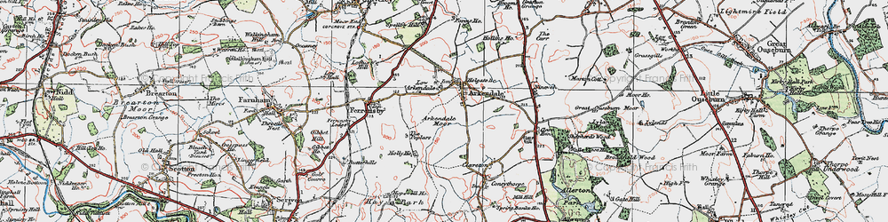 Old map of Arkendale in 1925