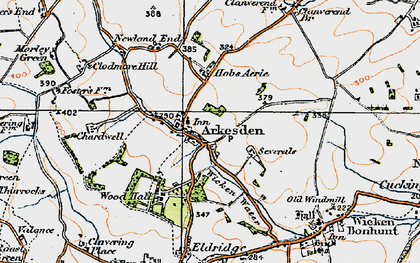 Old map of Arkesden in 1920