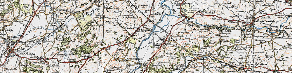 Old map of Arkholme in 1924