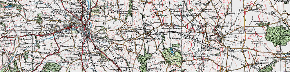Old map of Arkwright Town in 1923